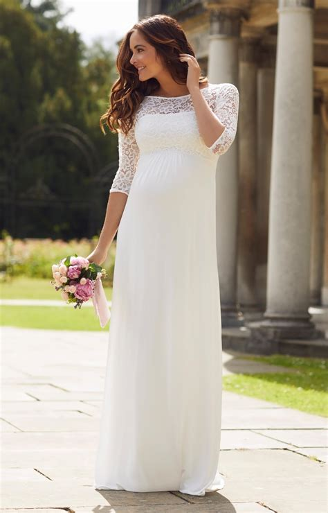 lucia maternity wedding gown long ivory maternity