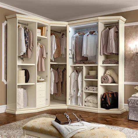 treviso ornate cherry wood corner wardrobe  mirrors