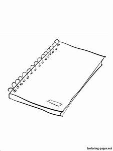 Notebook coloring page | Coloring pages