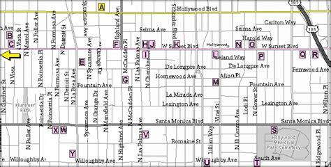 map  sunset boulevard  hollywood