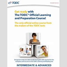Online Prep Course Toeic® Official Learning And Preparation Course  Intermediate To Advanced