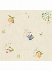 Papiers Peints Cuisine : papier peint cuisine fruits et papillons jaune ~ Melissatoandfro.com Idées de Décoration