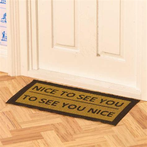 To See You To See You Doormat by The Dolls House Emporium To See You Door Mat