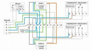 Combination Boiler With 2 Heating Zones  Relay Switching