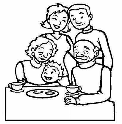 Coloring Pages Table Clipart Joint Dining Guy