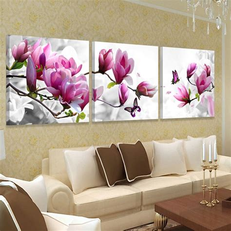 picture wall art hd print canvas oil orchid painting