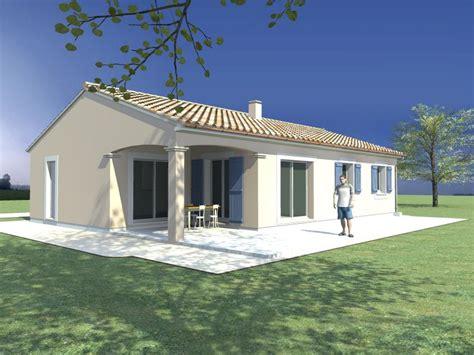 plan maison plain pied 2 chambres modele maison maison de plain pied 3 chambres terrasse