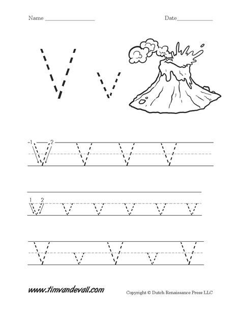 letter v worksheet tim s printables
