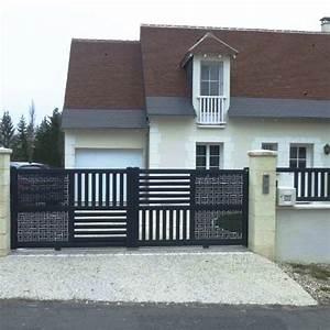 Portail De Maison : portail jardin moderne accueil design et mobilier ~ Premium-room.com Idées de Décoration