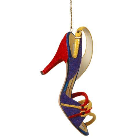 multicolored slingback shoe christmas ornament home