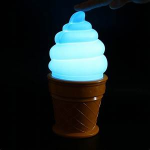 New, Magic, Ice, Cream, Lamp, Led, Lamp, Attractive, Night, Light, For, Children, Kids, Cone, Shaped, Table, Led
