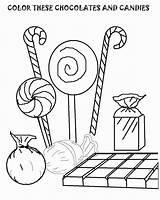 Coloring Candy Printable Chocolate Malvorlagen Ausdrucken Keilrahmen Kostenlos Popular sketch template