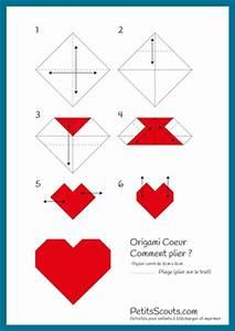 Comment Faire Des Origami : origami coeur d couper et plier gratuit petitsscouts ~ Nature-et-papiers.com Idées de Décoration