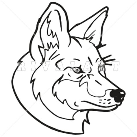 coyote clipart black and white coyote drawings clipart