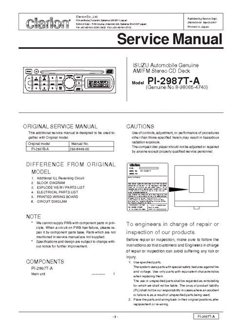 Clarion Wiring Diagram