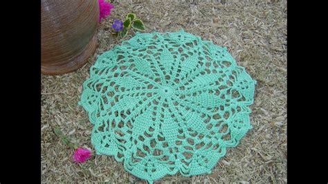 como hacer tapete a crochet paso a paso parte 3 3 youtube