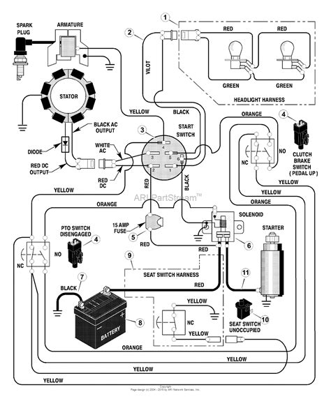 murray xa lawn tractor  parts diagram