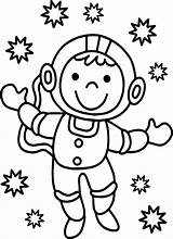 Astronaut Coloring Pages Monkey Spaceman Cartoon Sheet Printable Getdrawings Cool Coloringbay sketch template