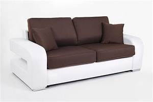 canape convertible couchage 140 cm alban wilma blanc With basika canape lit