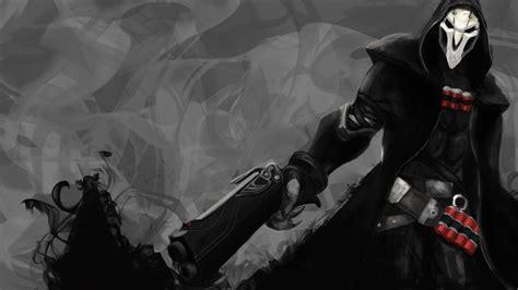 wallpaper overwatch reaper poster  games