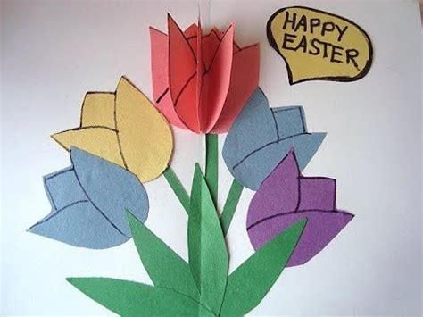 diy tulips pop  easter card  card crafts  kids