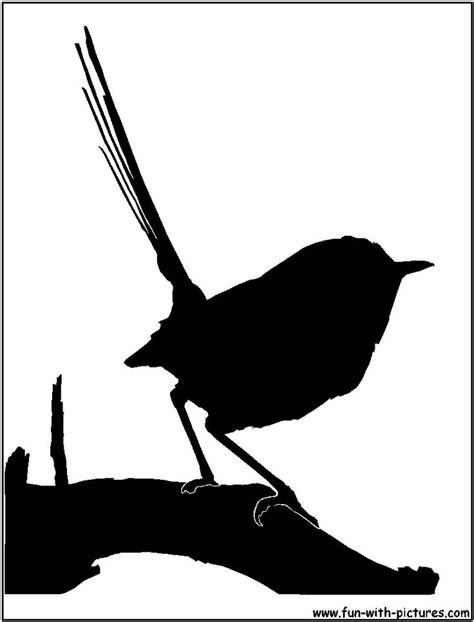 fairy wren silhouette large silhouettes  stencils