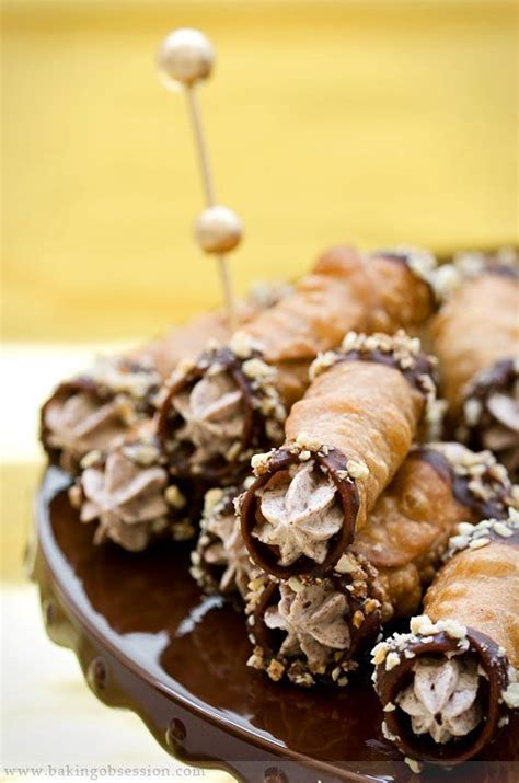 chocolate cannoli filling chestnut chocolate and hazelnut cannoli recipe chocolate cannoli and baking