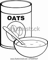 Oat Oatmeal Coloring Bowl Template Meal Sketch sketch template