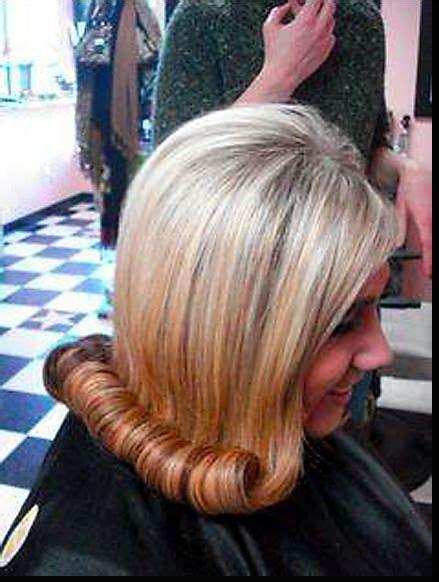 cute flip   styles bouffant wetset hair hair