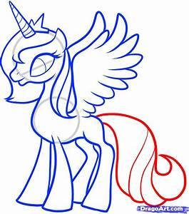 Draw Luna Princess Luna My Little Pony Step By Step