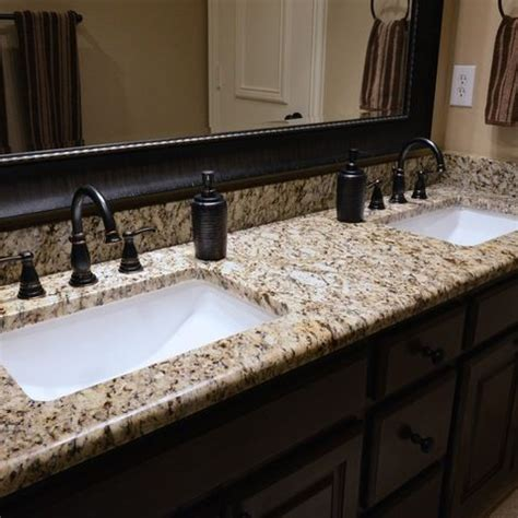 granite bathroom countertops vessel sink the application