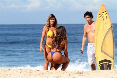 bahls and fani pacheco filming a commercial on ipanema in de janeiro 12thblog