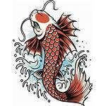 Koi Clip Vector Fish Tattoo Illustrations Cartoons