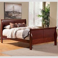 Louis Philippe Ii Cal King Sleigh Bed  Modern Bedroom