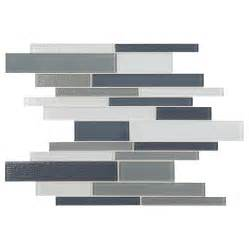 lowes kitchen backsplashes shop american olean delfino mixed blue gray linear mosaic
