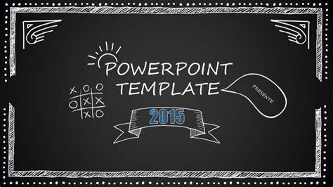 blackboard cartoon style powerpoint template