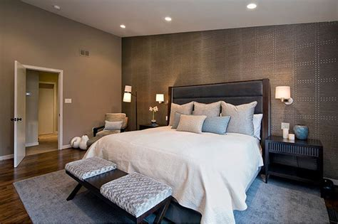 In Wall Ls For Bedroom by 20 Trendy Bedrooms With Geometric Wallpaper Designs Home