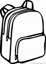 Clipart Backpack Outline Coloring Pages Webstockreview Colorful sketch template