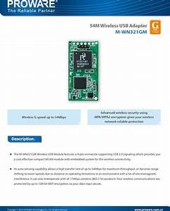 Proware Technologies Co Wn321gm3v1 54m Wireless Usb Module