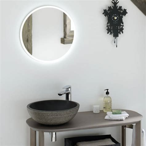 miroir salle de bain lumineux rond time to bath