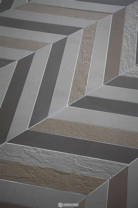 durastone chevron steel grey xx matt tile
