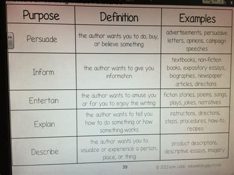 authors purpose  gleasonsixth grade english