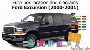Fuse Box Location And Diagrams  Ford Excursion  2000
