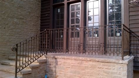 exterior wrought iron handrail railing mediterranean