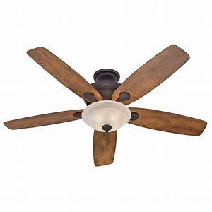 Ceiling fans with neon lights : Hunter regalia in new bronze indoor downrod or