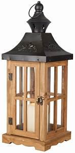 Laterne Weiß Holz : laterne aus holz 17x17x46 cm von rofu ansehen ~ Watch28wear.com Haus und Dekorationen
