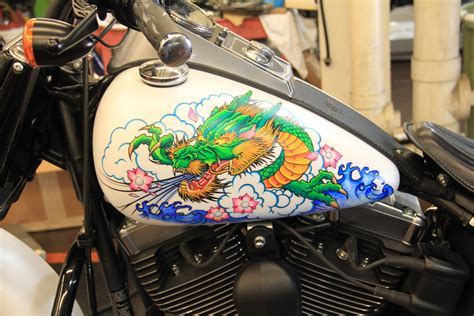 Design On Motorcycle Using Sharpie Markers... He Doesn't