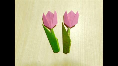 como fazer tulipa origami  arte de dobrar  papel