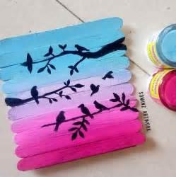 Painting Ice Cream Sticks Crafts