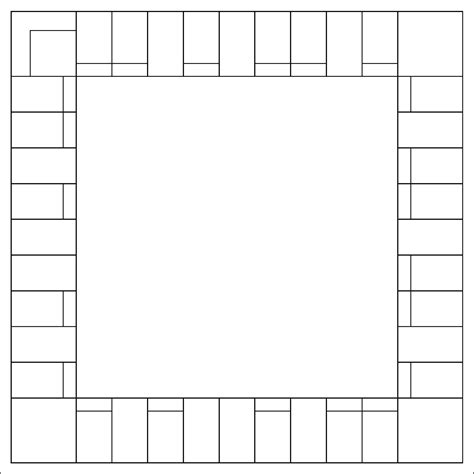 board template printable monopoly board template printable pages